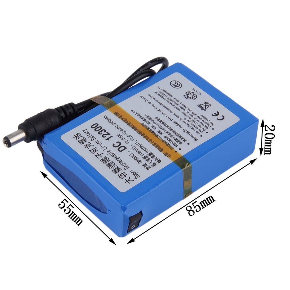 3000mah lithium ion rechargeable battery ac power charger us le