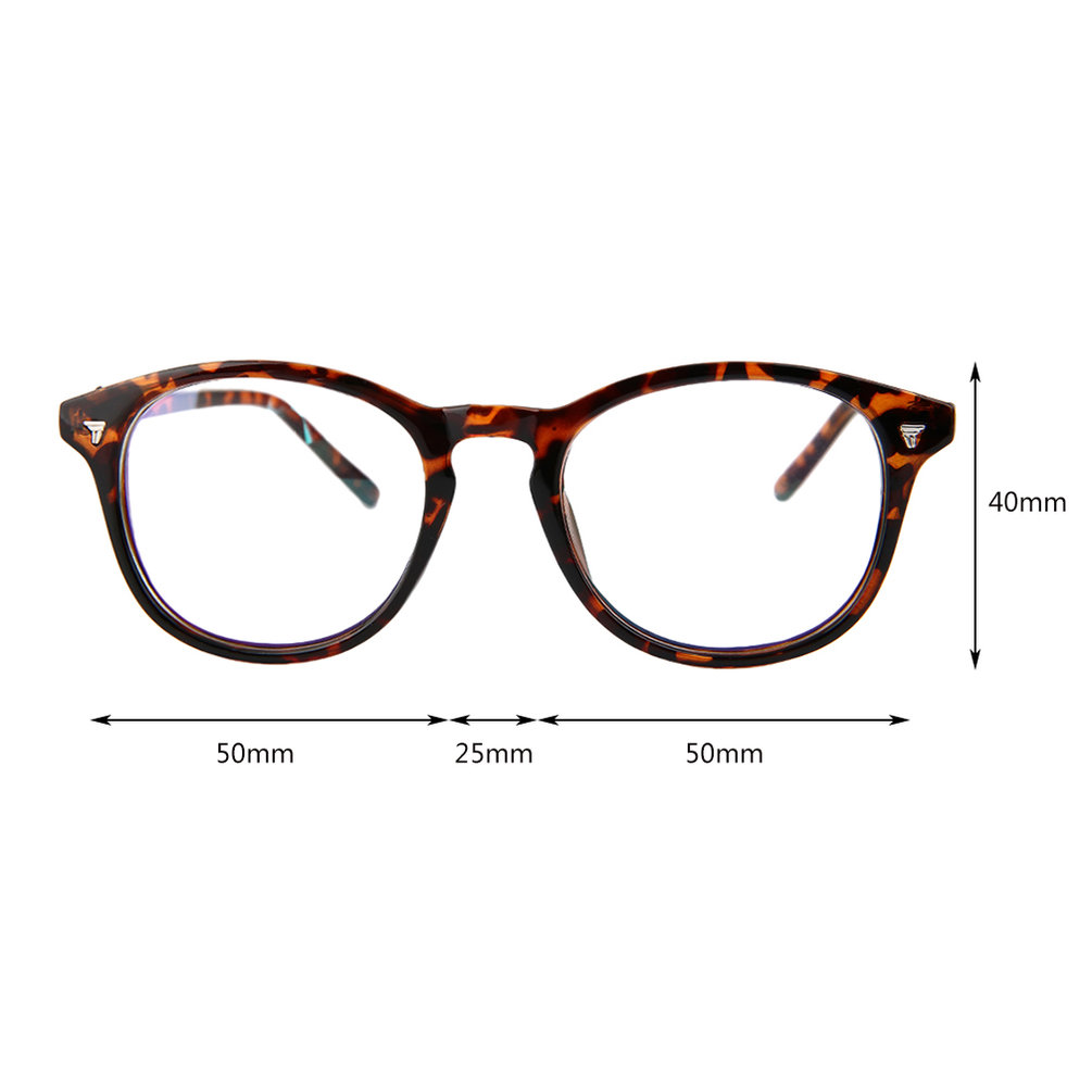Vintage Men Women Eyeglass Frame Len Coating Radiation ...