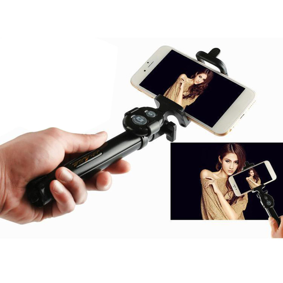 high quality bluetooth cell phone selfie stick monopod tripod for iphone a. Black Bedroom Furniture Sets. Home Design Ideas