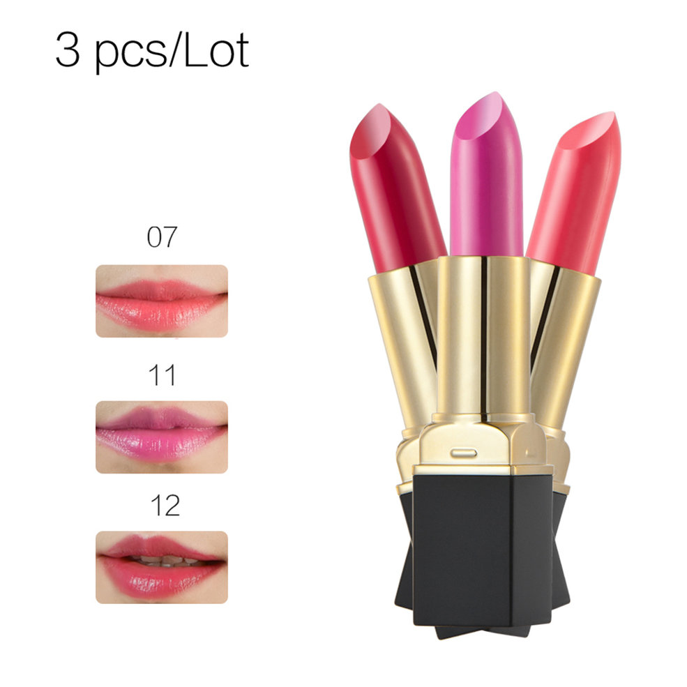 Huamianli-3-Pieces-One-Set-Ultra-Matte-Glossy-Sexy-Lipstick-8-Sets-To-Choose-GT