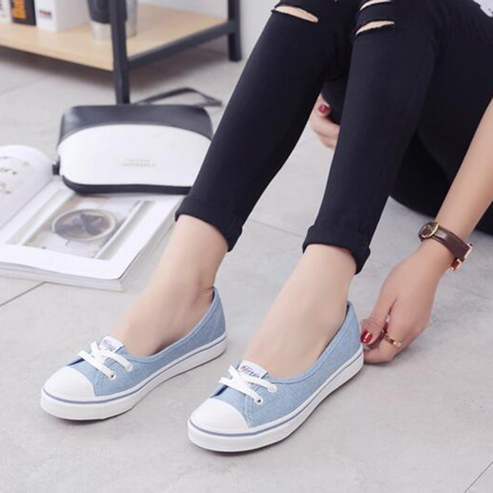Women-Casual-Canvas-Work-Flats-Loafers-Slip-On-Soft-Fashion-Boat-Shoes-GT