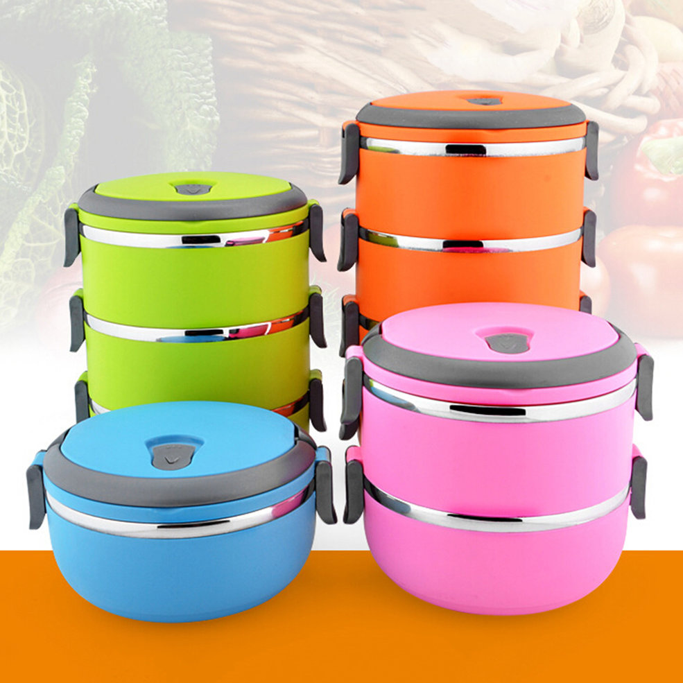 thermal insulated lunch box bento picnic storage mess tin food jar camping oe. Black Bedroom Furniture Sets. Home Design Ideas
