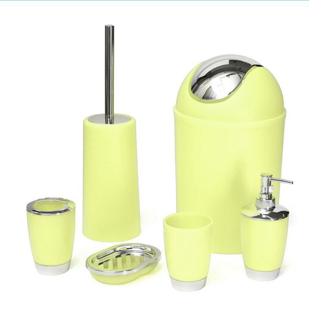 6pcs bathroom accessory bin soap dish dispenser tumbler toothbrush holder set gd - Bathroom soap dish sets ...