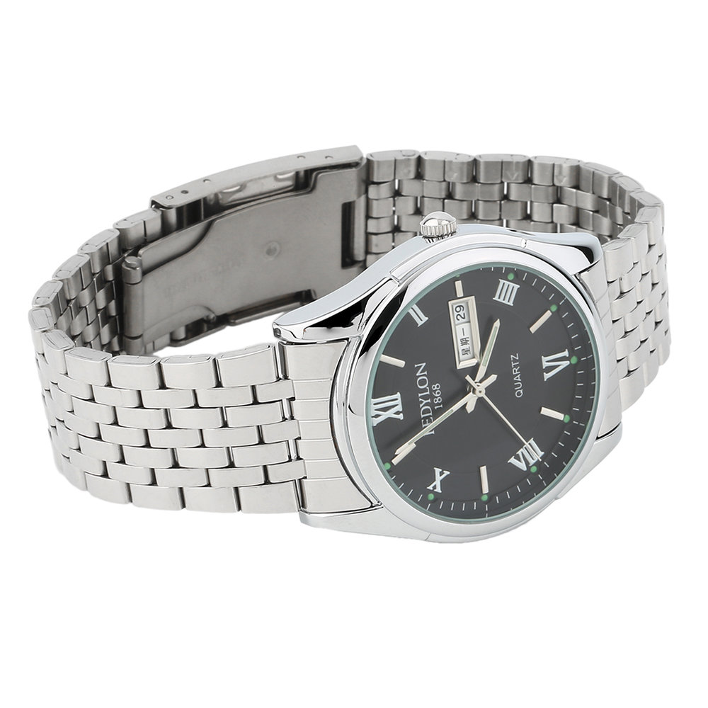 New-Luxury-Dual-Calender-Waterproof-Men-Stainless-Steel-Business-Quartz-Watch-SY