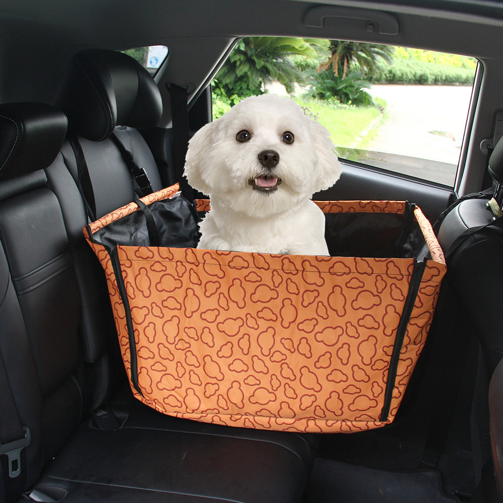 Pet Dog Cat Car Rear Back Seat Carrier