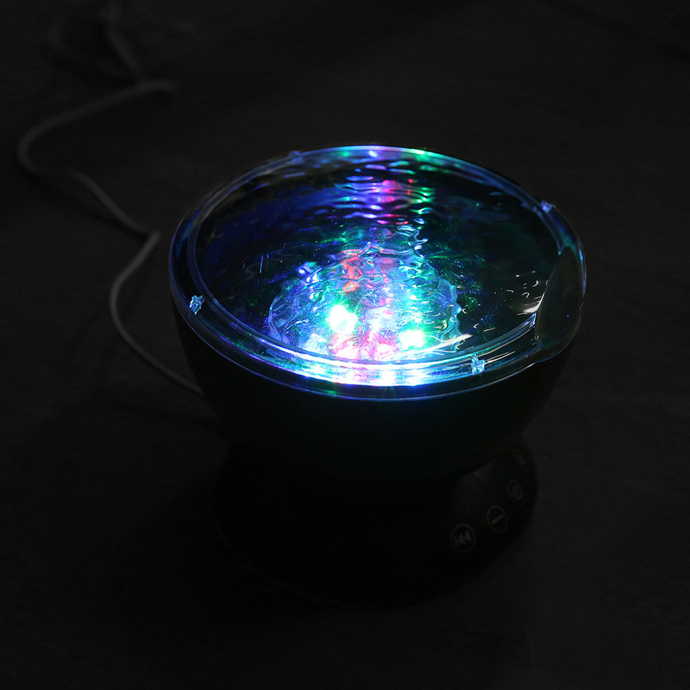 Ocean wave projector light with remote control tf card music play night light sy ebay - Remote control night light ...