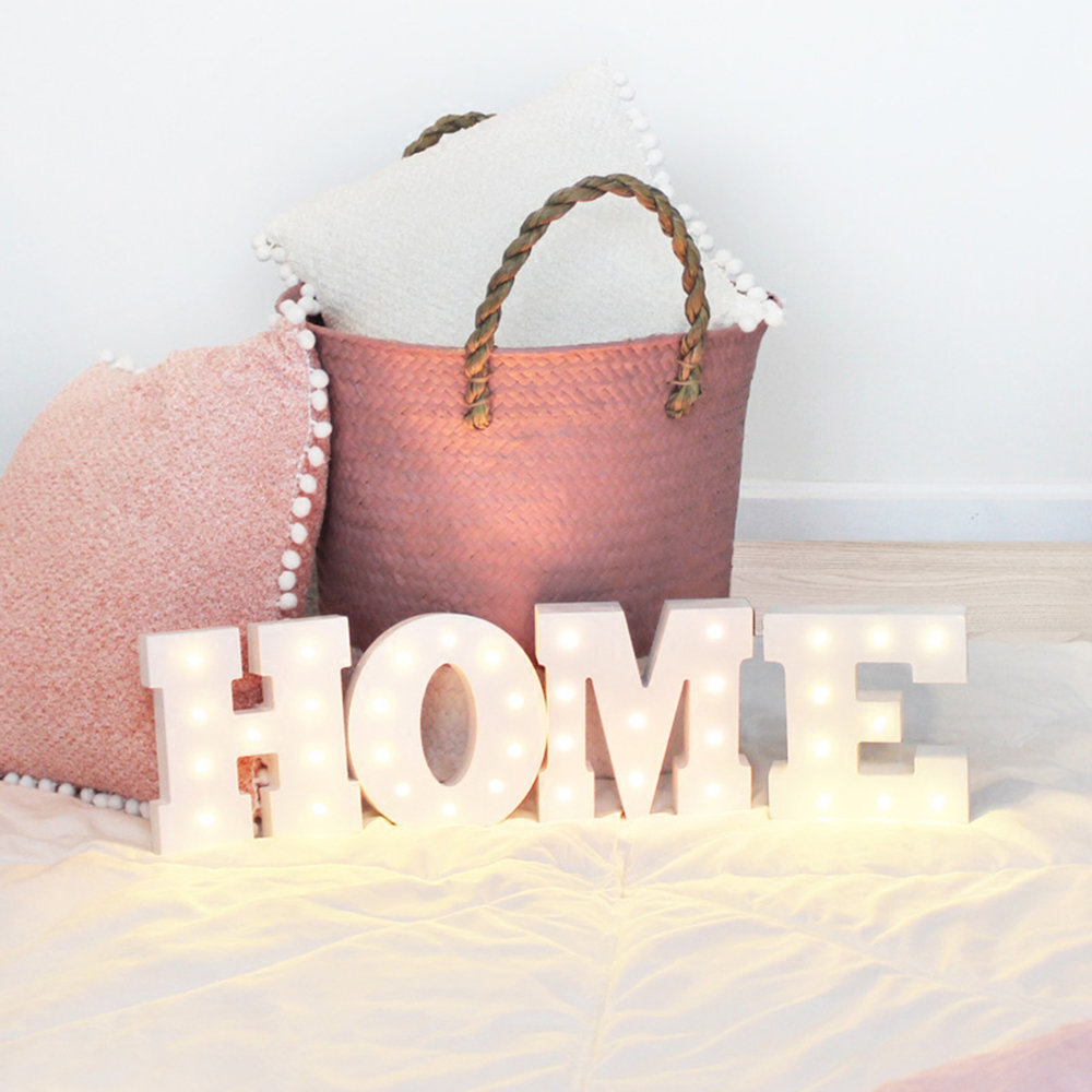 Wall Hanging Night Lights : Wooden 26 Letters LED Night Light Festival Lights Party Lamp Wall Hanging SM eBay