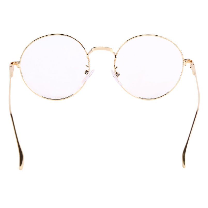 Vintage Eyeglasses Metal Round Frame Green Film Plain ...