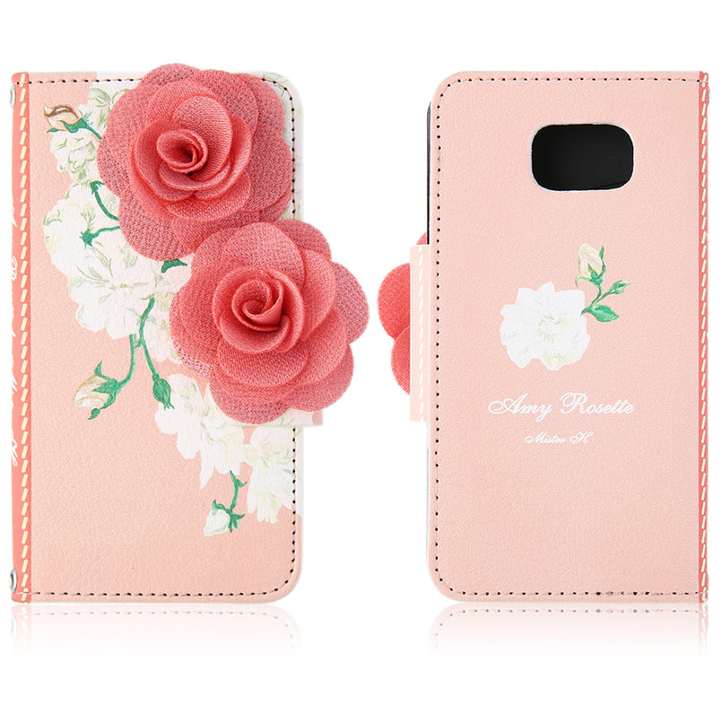 3D-Luxury-Rose-Flower-Leather-Case-Cover-Mobile-Phone-Wristlet-Flip-Handbag-F7