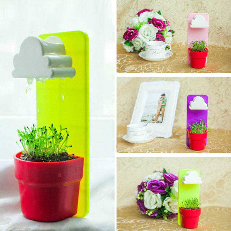 Colorful creative cloud hanging plant flower pot planter for Colorful hanging planters