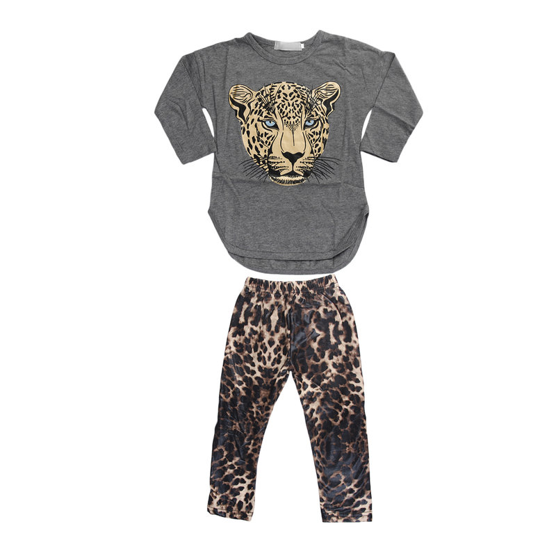 Baby fashion girls pure cotton leopard print long sleeve for Leopard print shirts for toddlers