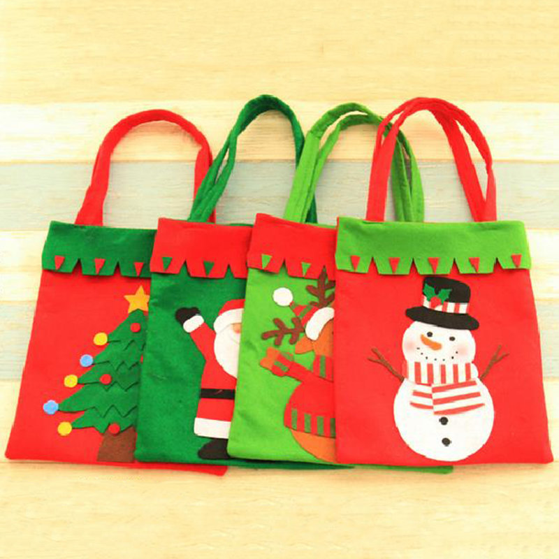 Santa claus christmas stocking gift bags candy