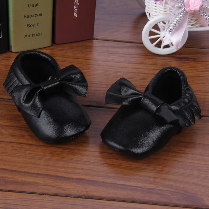 New Baby Soft Sole Suede Leather Shoes Infant Boy Girl