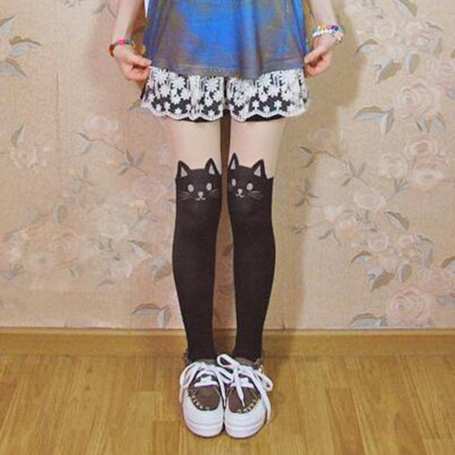 Cute Sailor Moon Cat Luna Stockings Socks Pantyhose Anime ...