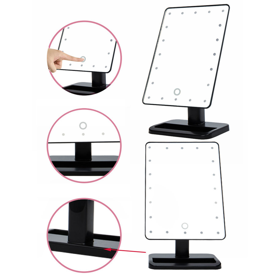 Beauty Cosmetic Make Up Illuminated Desktop Stand Mirror