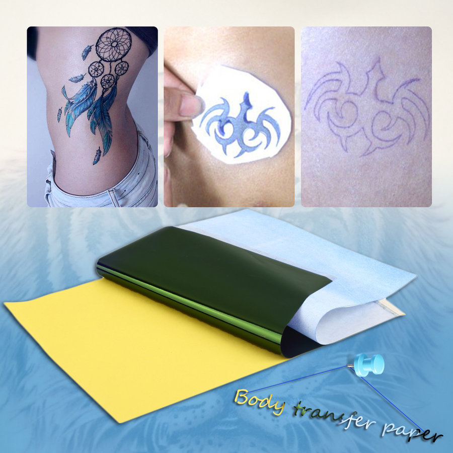 10sheets tattoo transfer carbon paper supply tracing copy for Tattoo transfer paper