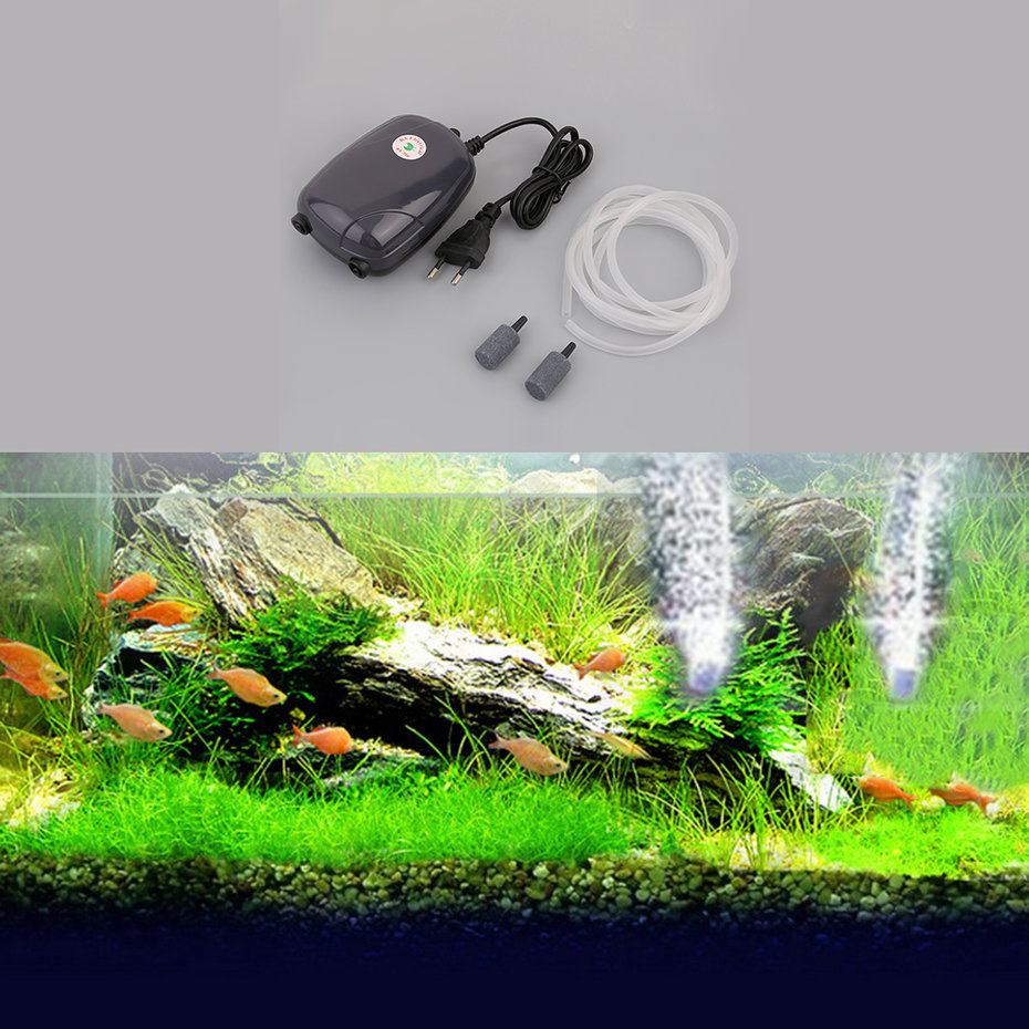 Aquarium fish tank pond pump hydroponic oxygen air bubble for Fish pond aerator