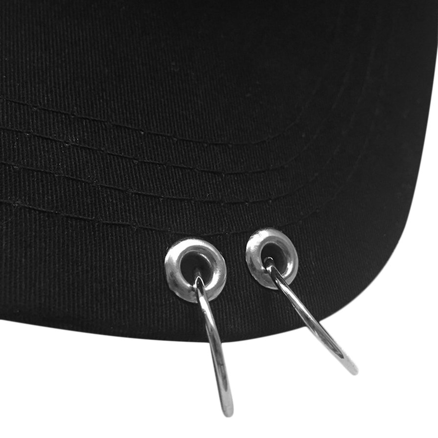 Streetnovelty-Unisex-Cotton-Ring-Hoop-Pin-Curved-Hat-Hip-Hop-Baseball-Cap-ESP