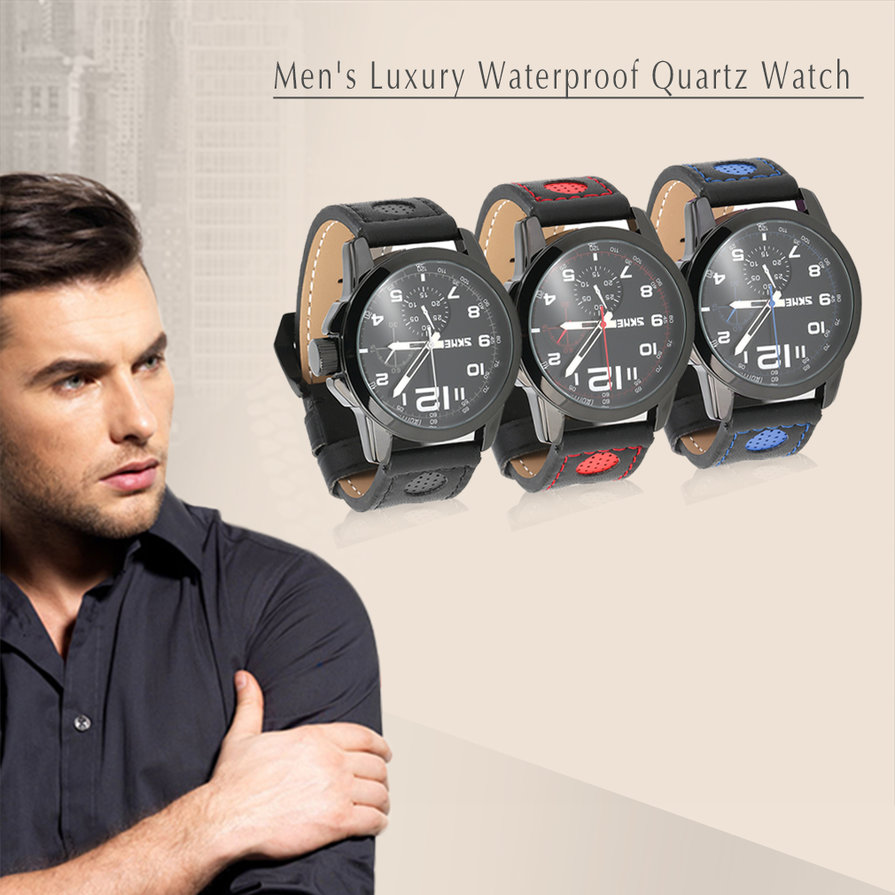 New-SKMEI-9111-Mens-Luxury-Waterproof-Quartz-Watch-Leather-Band-Wristwatch-ESP