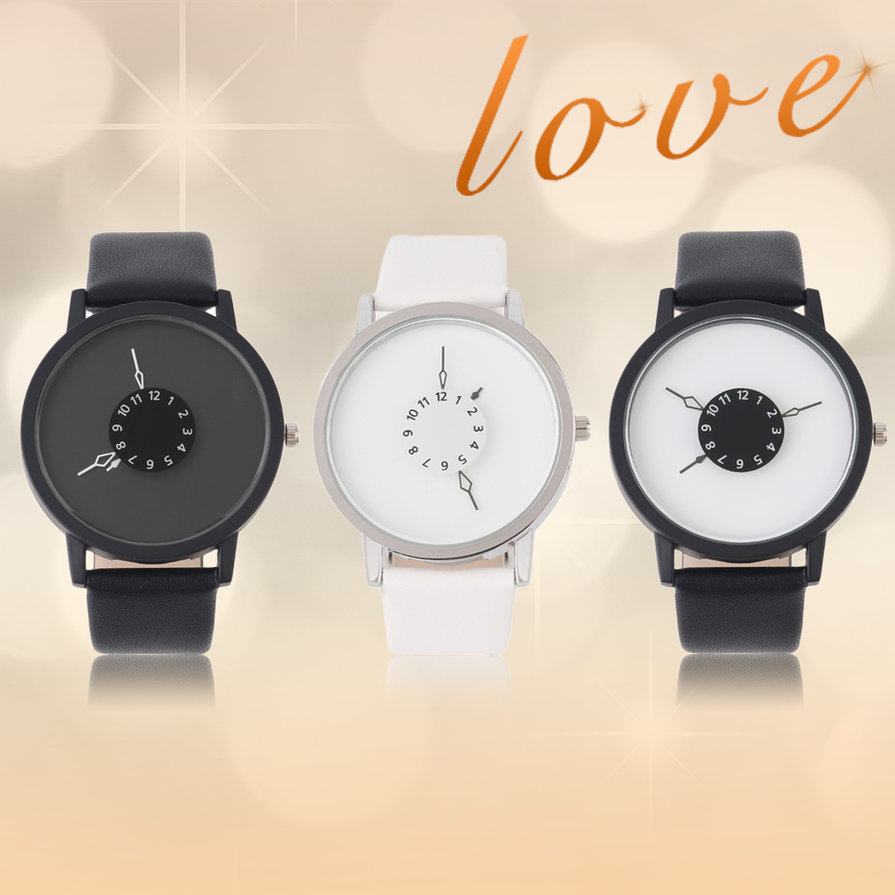 Black-White-Waterproof-New-Design-Leather-Strap-Lovers-Table-Wristwatch-ESP