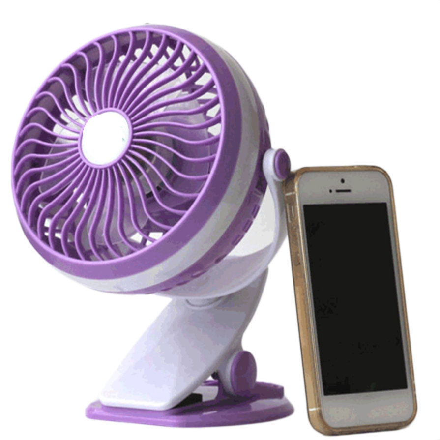 New Electric Fan : New practical degree rotating usb powered metal