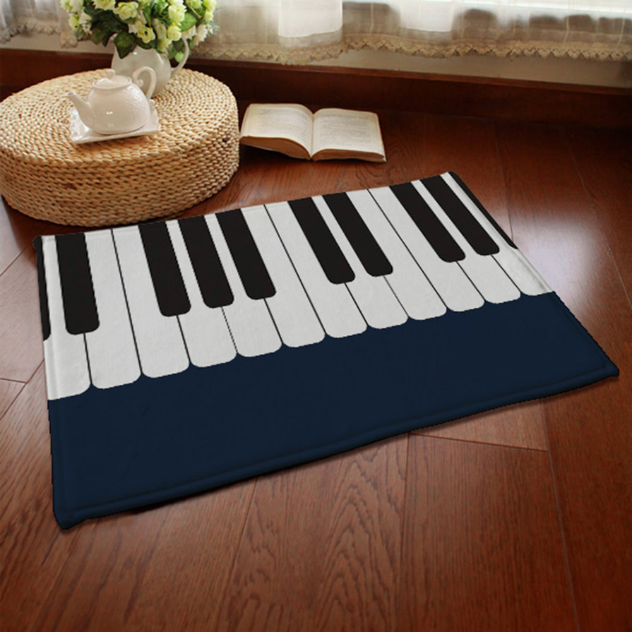 piano carpet bedroom bedside living room black and white piano