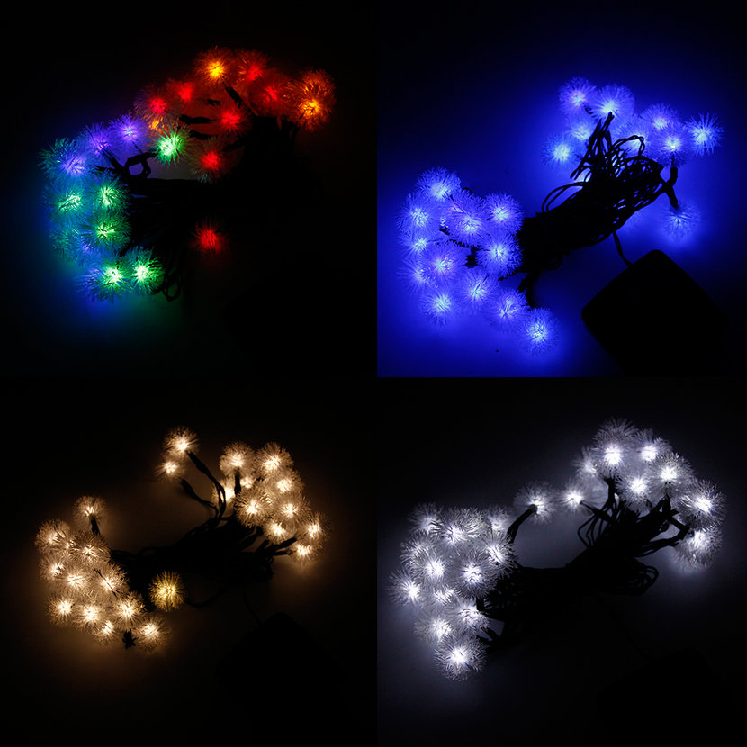 LED Lights String Outdoor Lights Solar String Large Chuzzle Ball Shaped LO eBay