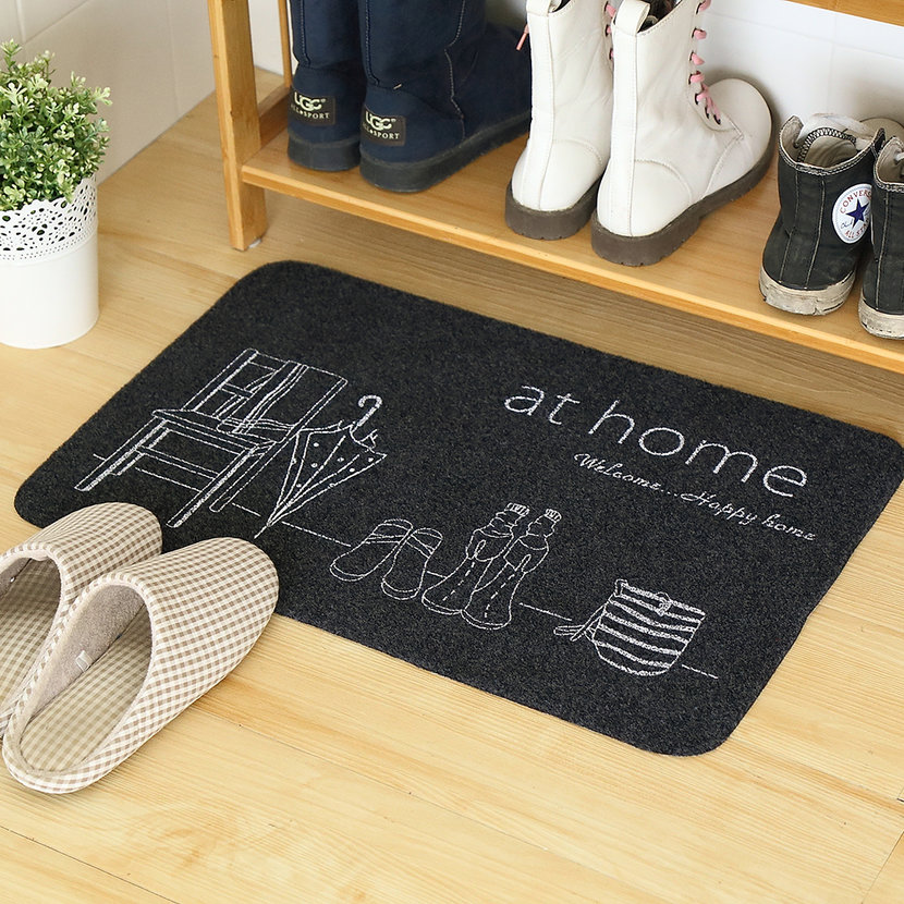 Foyer Door Mats : Ultra thin non slip bath home mats entrance door doormat