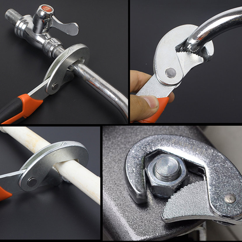 Portable adjustable pipe wrench universal spanner water