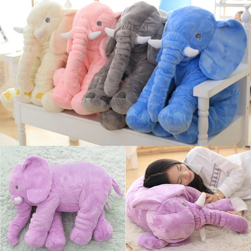 Stuffed Animal Cushion Kids Baby Sleeping Soft Pillow Toy Cute Elephant CottonCC eBay