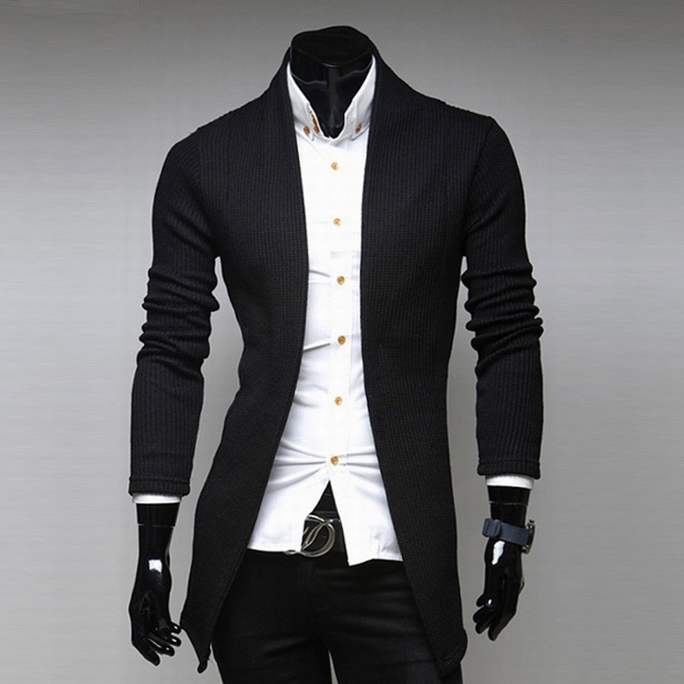 Autumn Winter Mens Cardigan Sweaters Casual Cotton Solid V Neck ...