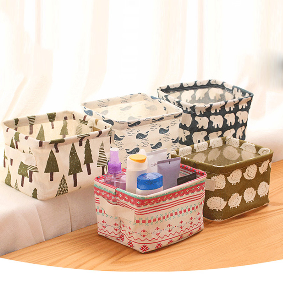 New fabric art retro desk storage box stationary remote - Art desk with storage organization ...