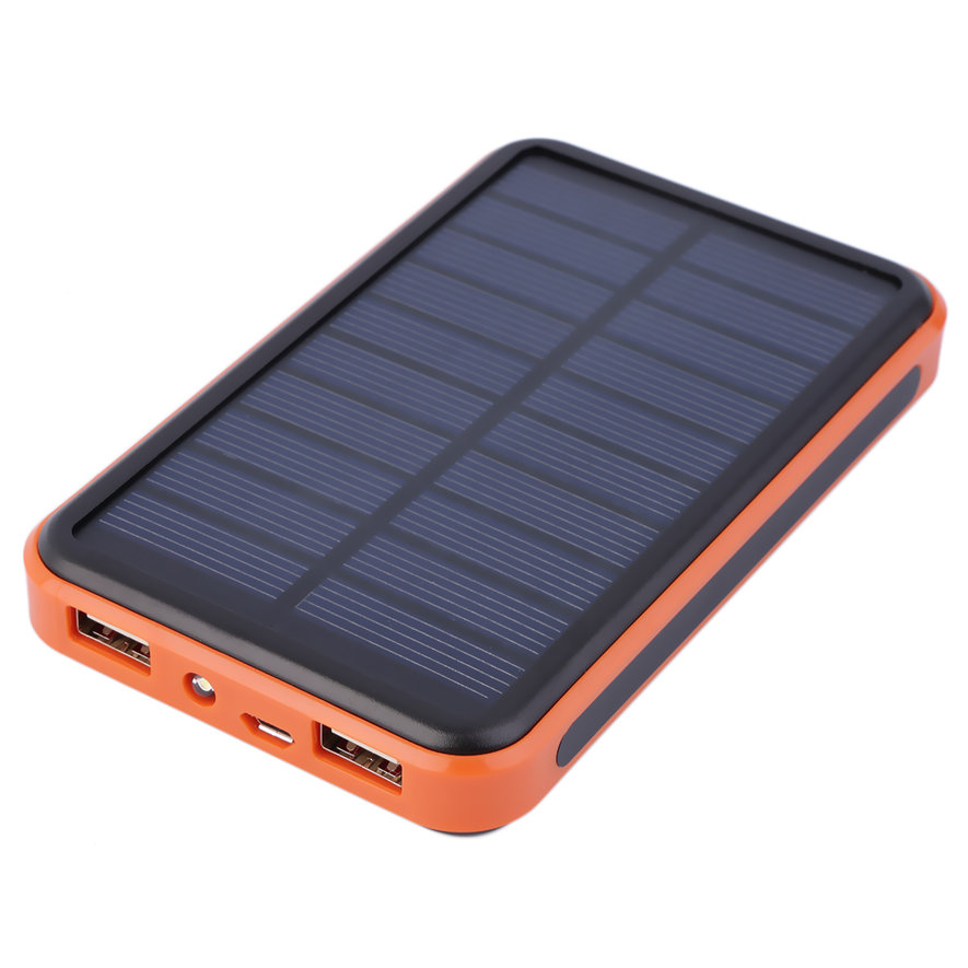 large capacity waterproof solar power bank dual usb solar. Black Bedroom Furniture Sets. Home Design Ideas