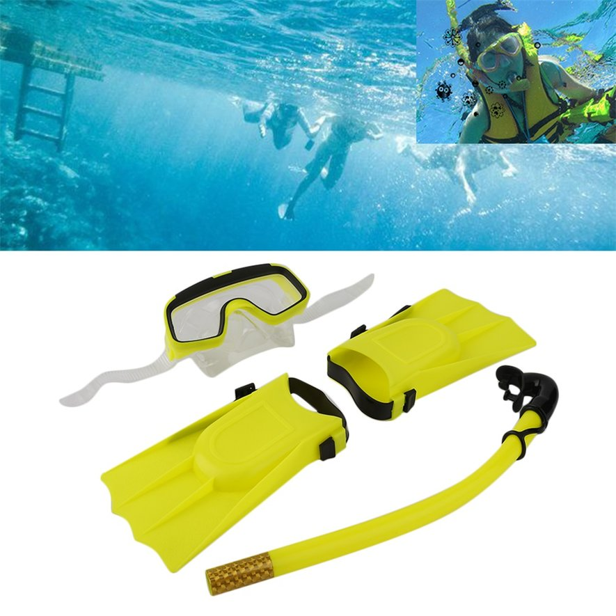 Snorkeling diving mask breathing tube long fins flippers for Dive tube
