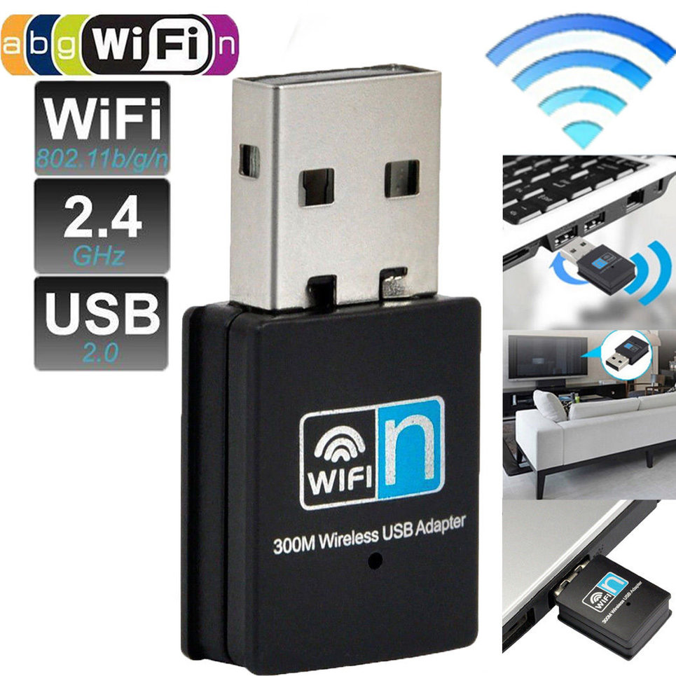 150 300mbps mini usb wifi wireless adapter dongle network lan card. Black Bedroom Furniture Sets. Home Design Ideas