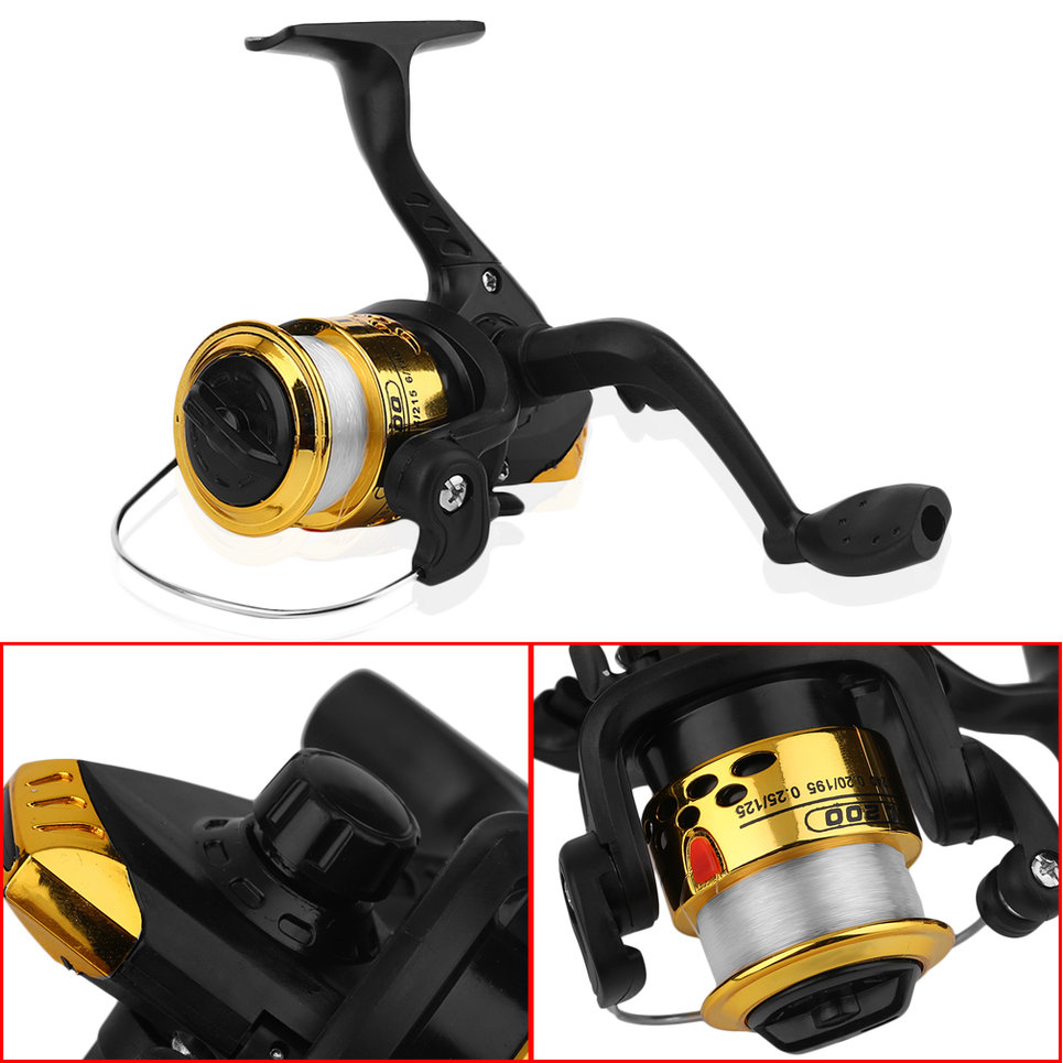 Yumoshi jl200 electroplating fishing reel spinning reel for Fishing line on reel