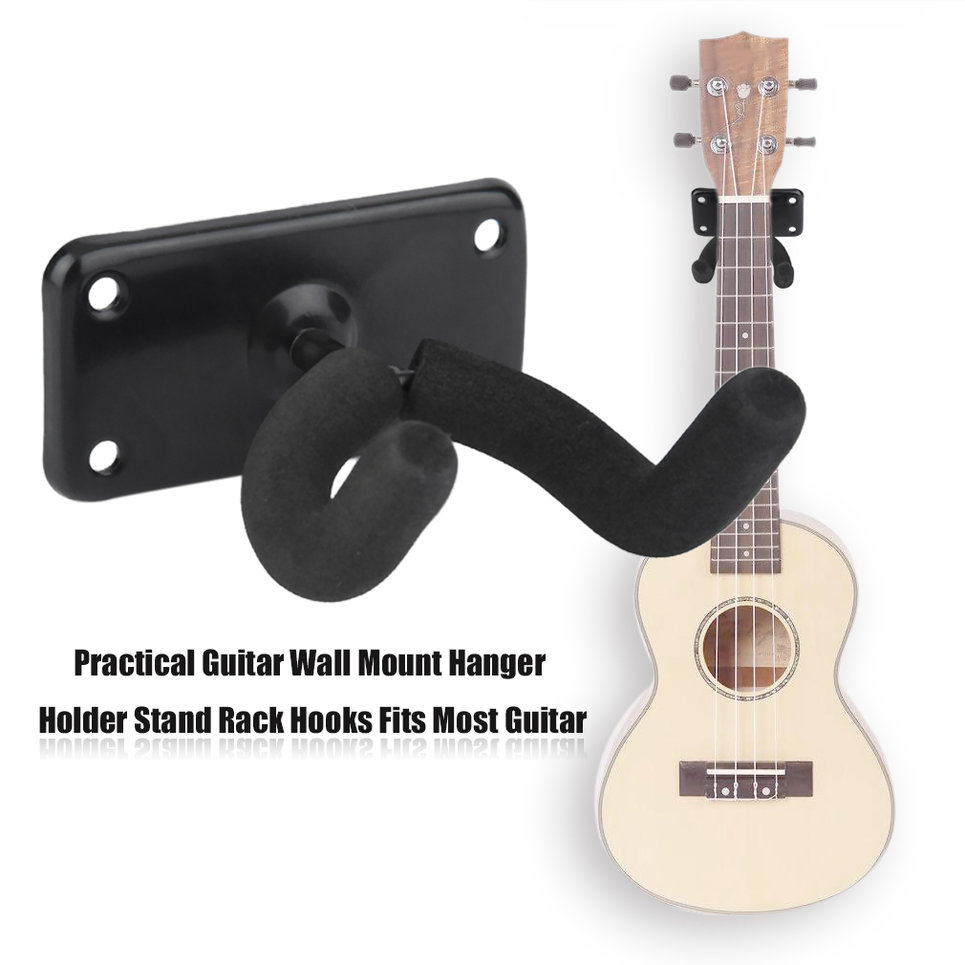 guitar hanger stand holder wall mount display acoustic electric hooks lkcn ebay. Black Bedroom Furniture Sets. Home Design Ideas