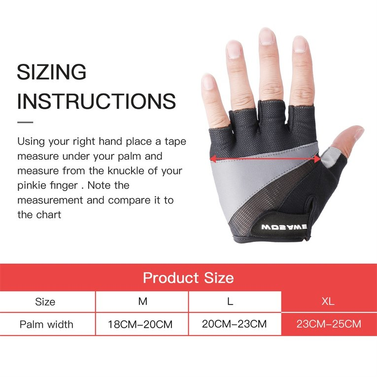 Unisex Anti-slip Breathable Shockproof Half-finger Cycling Bike Gloves HS