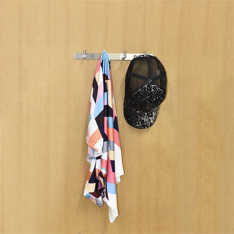 af023a0e143 Wall Hanger 304 Stainless Hooks Coat Hat Clothes Robe Holder Hook Rack AS