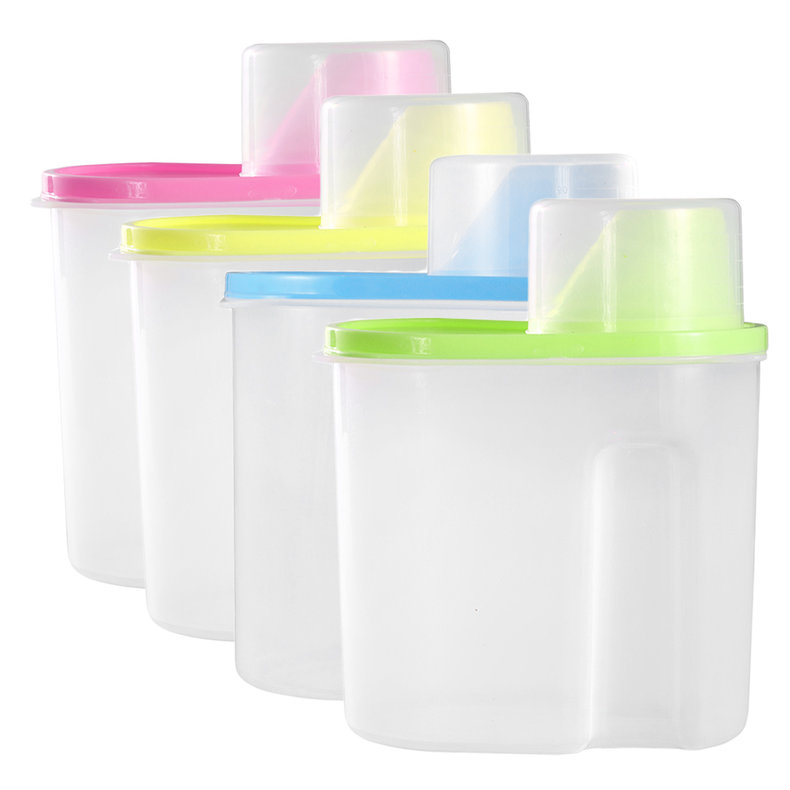 plastic storage boxes for kitchen 2 5l 1 9l kitchen food grain bean rice plastic storage 7505