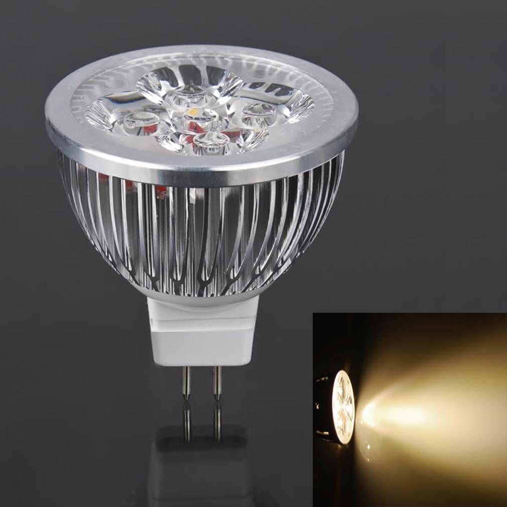Led Spotlight Warm White: LOT 50 LED Spotlight Bulb MR16 4W 12V 3000K Warm White