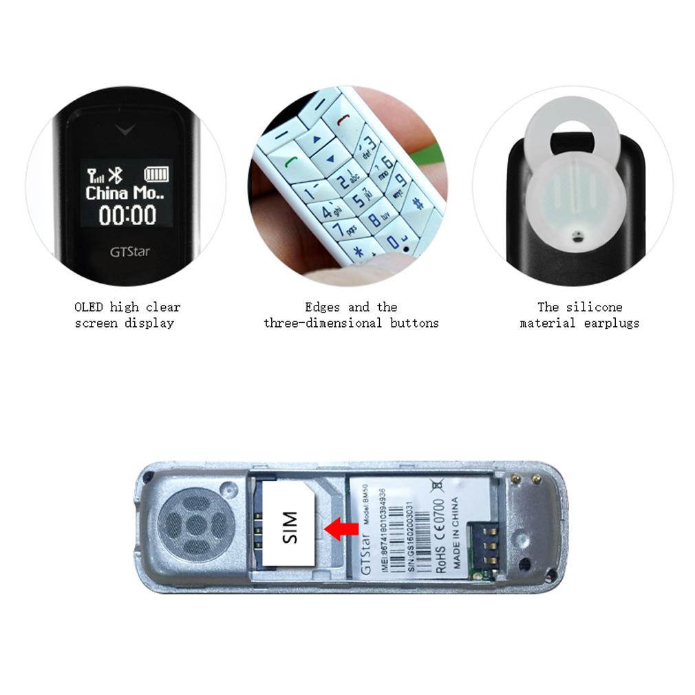 t l phone portable mobile pour gtstar mini bm50 blanc. Black Bedroom Furniture Sets. Home Design Ideas