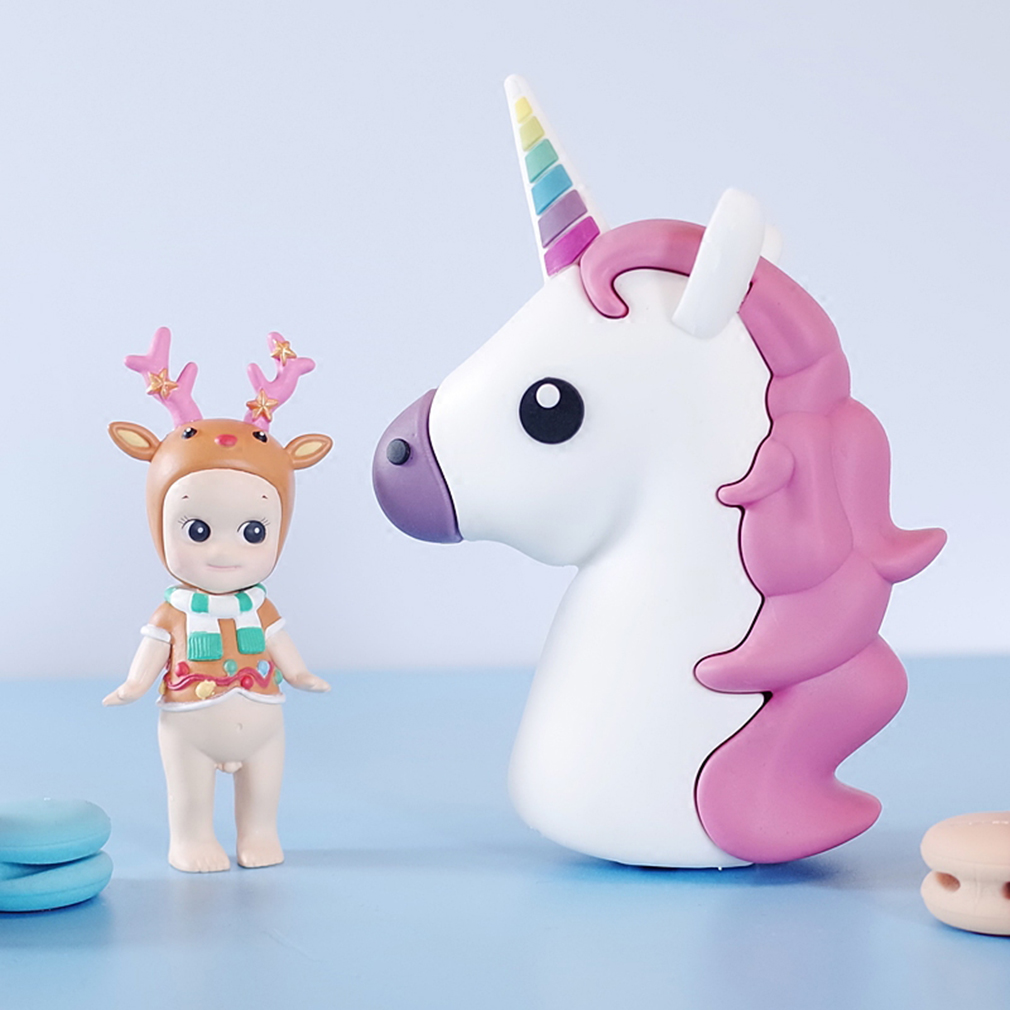 New emoji unicorn cartoon portable charger external backup