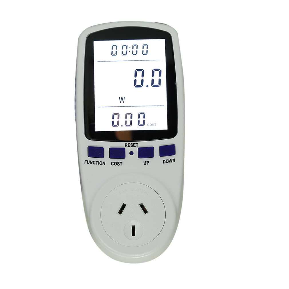 Electronic Electric Meter : Digital energy meter socket electric power