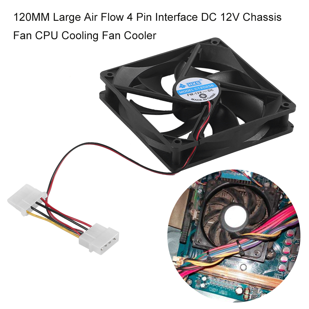 110mm 12v Fan : Mm large air flow pin interface dc v chassis fan