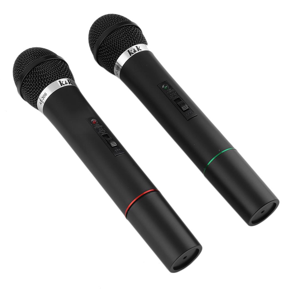 professional dual wireless microphone mic system set kit karaoke dj singing vp. Black Bedroom Furniture Sets. Home Design Ideas