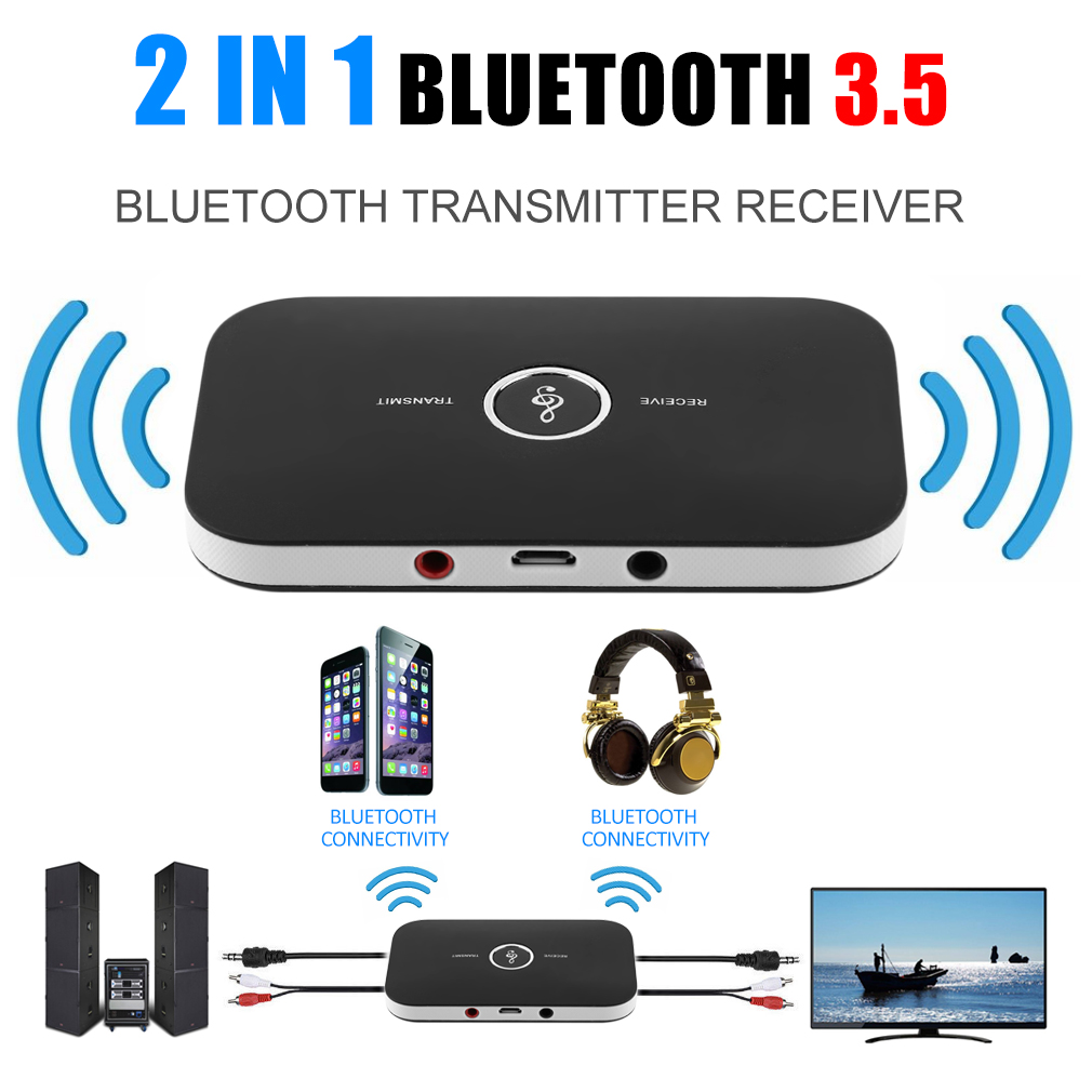 2 In 1 Wireless Stereo Audio Bluetooth Transmitter
