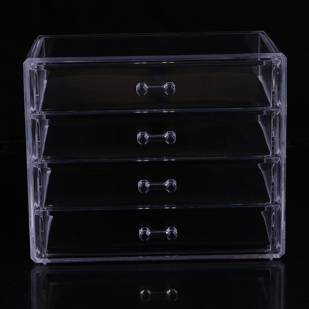 Acrylic Makeup Organizer Drawer Case Cosmetic Storage Box ...