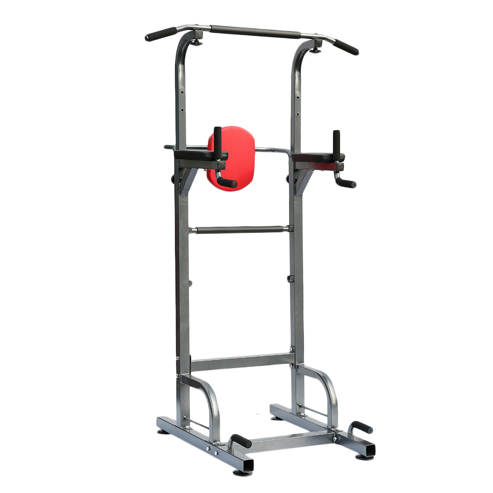 pull chin push up bar tower dip station fitness exercise. Black Bedroom Furniture Sets. Home Design Ideas