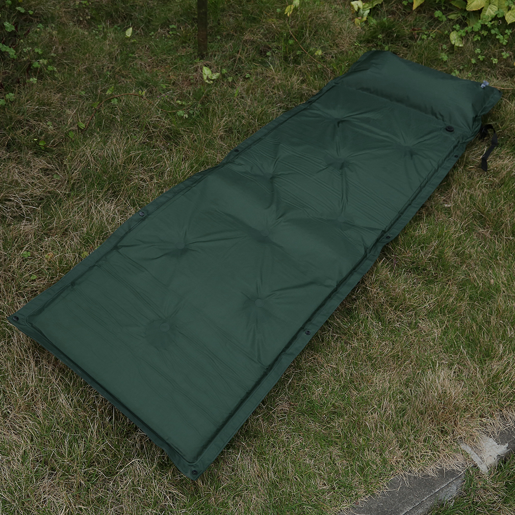 Camping Mattress: Outdoor Camping Self-Inflating Air Mat Mattress Pad Pillow